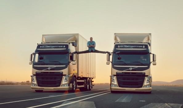 Невероятный шпагат Жана-Клода Ван Дамма в рекламе Volvo