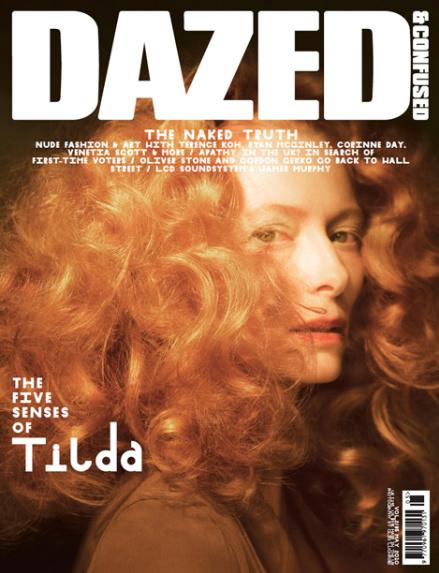 Тильда Суинтон в журнале  Dazed & Confused. Май 2010