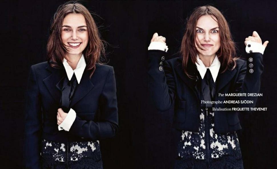 Кира Найтли в журнале Elle Франция. Февраль 2015