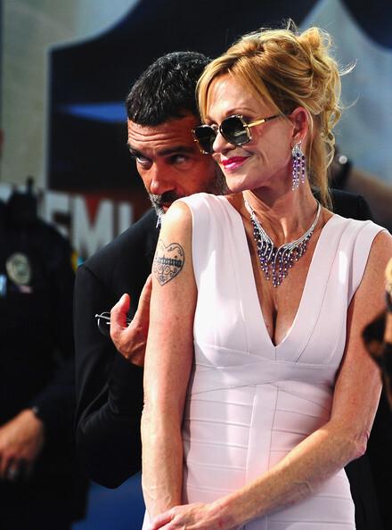Мелани Гриффит и Антонио Бандерас на церемонии Premios Juventud Awards