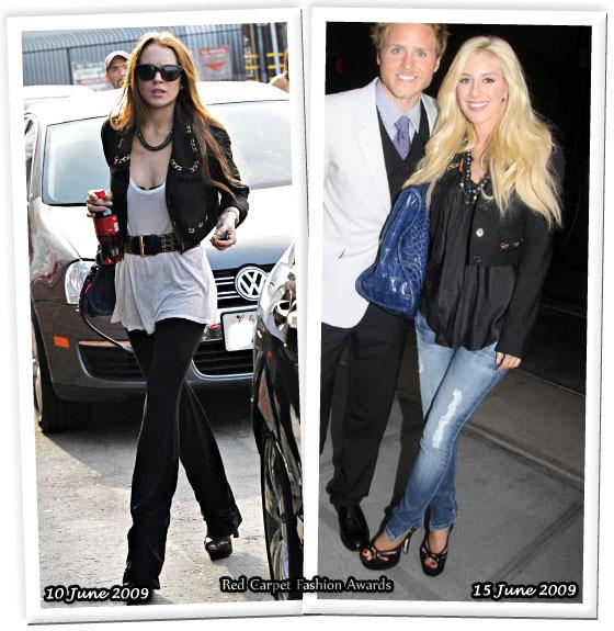 Fashion battle: Линдсей Лохан и Хайди Монтаг