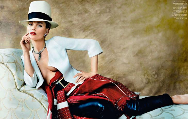 Кейт Мосс в журнале Vogue Paris. Апрель 2013