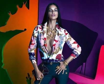Адриана Лима в рекламной кампании Versace for Riachuelo 2014