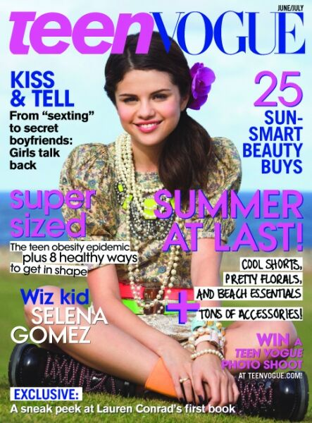 Селина Гомес в журнале  Teen Vogue. Июнь / Июль 2009