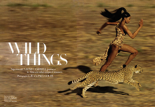 Наоми Кэмпбелл в журнале Harper's Bazaar. Сентябрь 2009