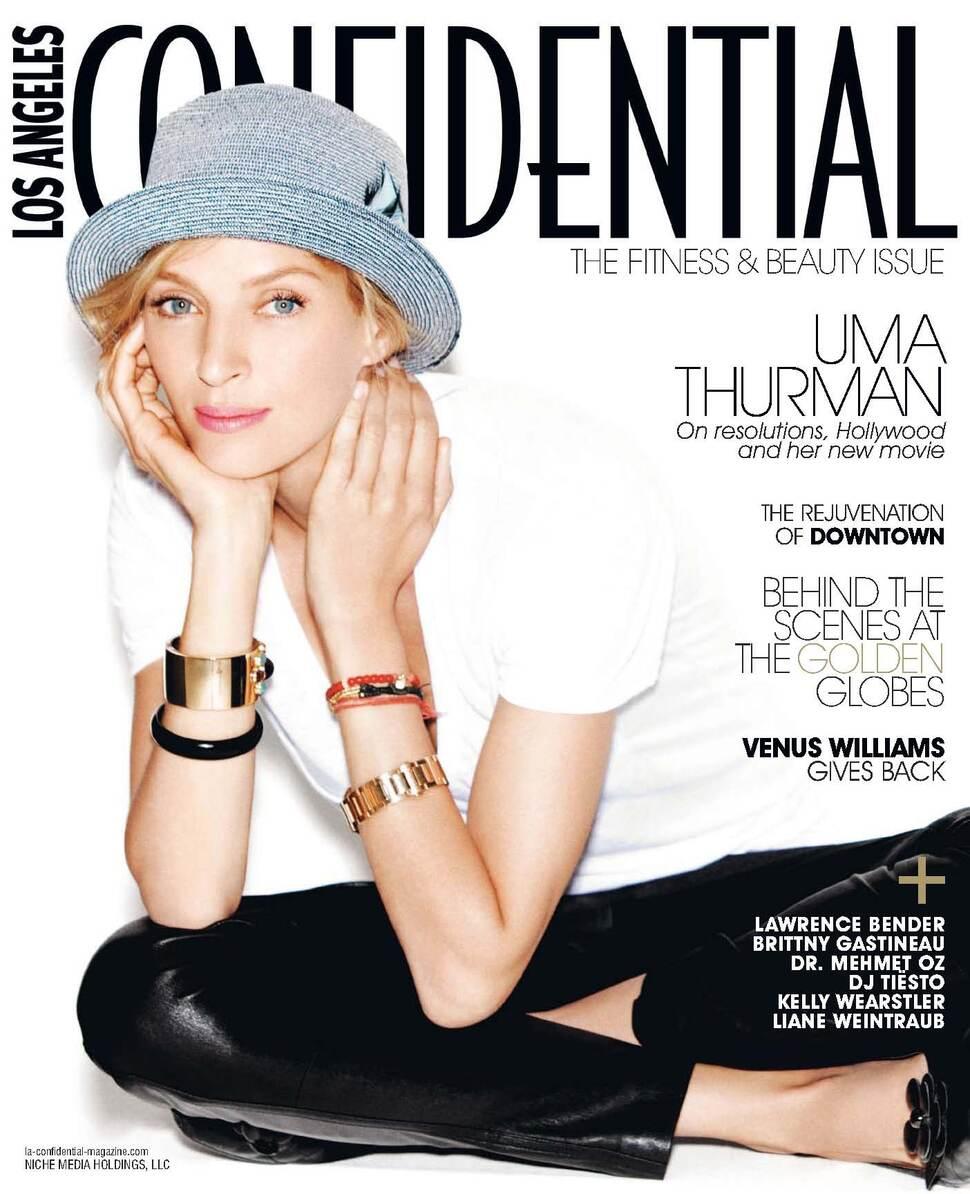 Ума Турман в журнале Los Angeles Confidential. Январь 2010