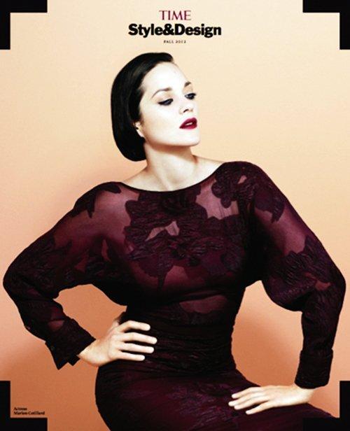 Марион Котийяр в журнале  TIME Style&Design. Очень 2012