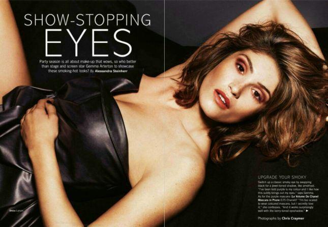 Джемма Артертон в журнале Glamour Великобритания. Декабрь 2014