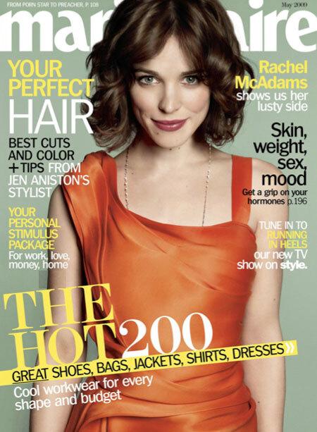 Рэйчел МакАдамс в журнале Marie Claire US. Май 2009