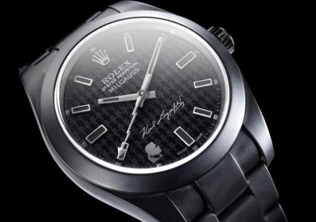 Часы Rolex Oyster Perpetual Milgauss от Карла Лагерфельда