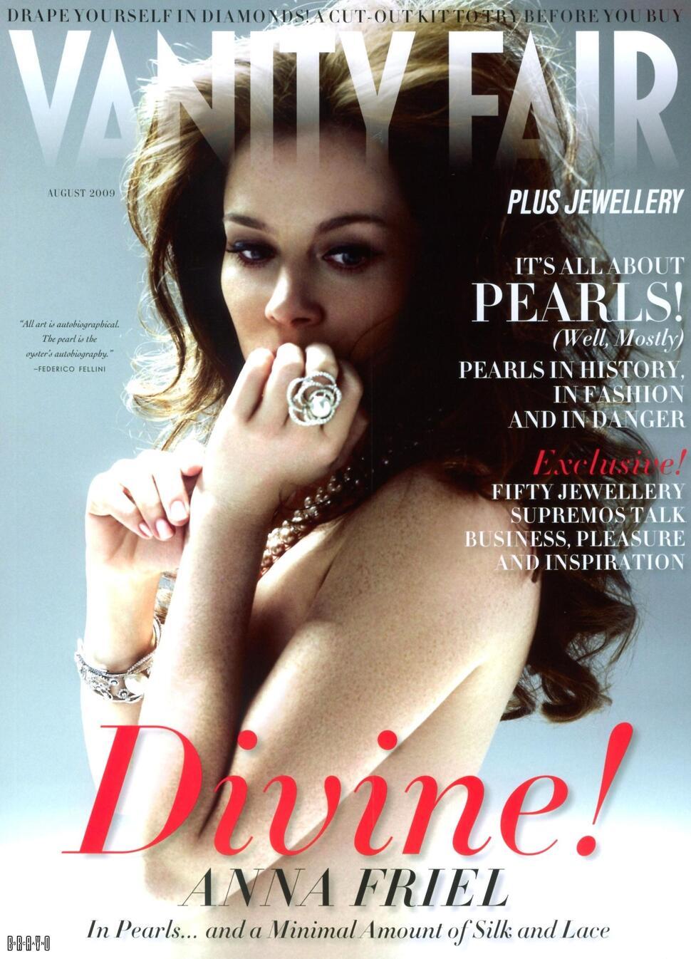 Анна Фрил в журнале Vanity Fair. Август 2009
