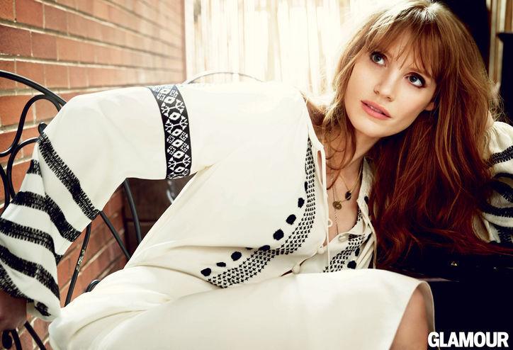 Джессика Честейн в журнале Glamour. Ноябрь 2014