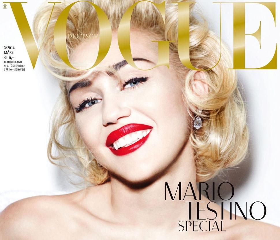 Майли Сайрус в журнале Vogue Германия. Март 2014