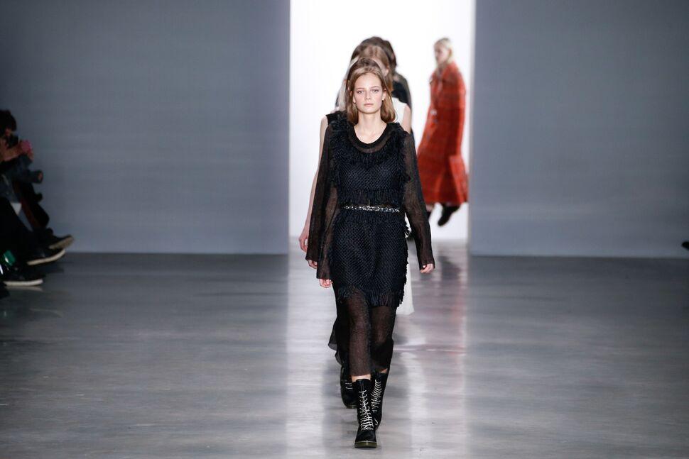 Модный показ новой коллекции Calvin Klein. Осень / зима 2014