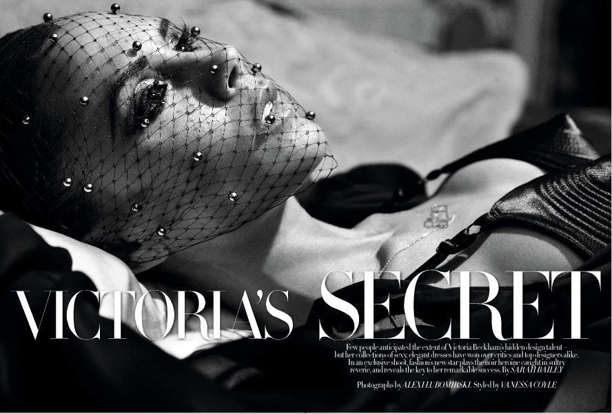 Виктория Бэкхем в журнале Harper's Bazaar. UK. Декабрь 2009