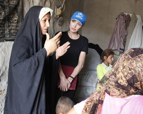 Анджелина Джоли в Багдаде