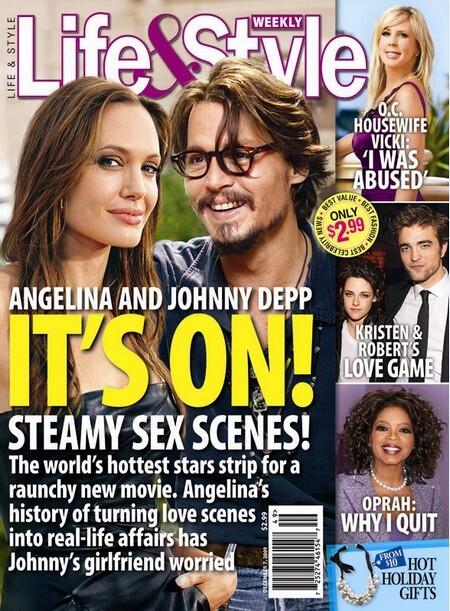 Анджелину Джоли и Джонни Деппа ждет сексуальная сцена