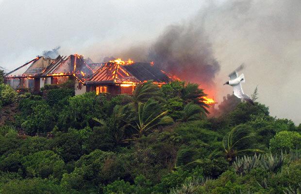 Кейт Уинслет о пожаре на острове Ричарда Брэнсона