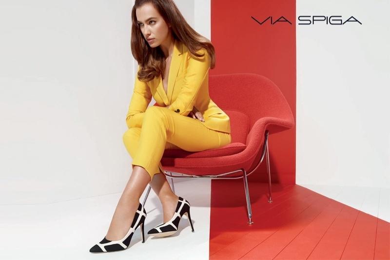 Ирина Шейк в рекламе обуви Via Spiga. Осень - Зима 2014