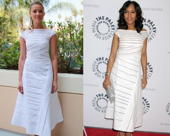 Fashion battle: Эмбер Херд и Керри Вашингтон