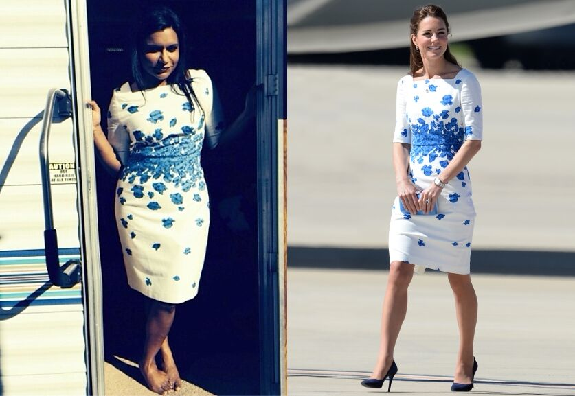 Fashion battle: Минди Каллинг и Кейт Миддлтон
