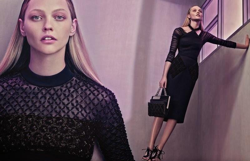 Саша Пивоварова в новой рекламной кампании Balenciaga. Весна / лето 2015