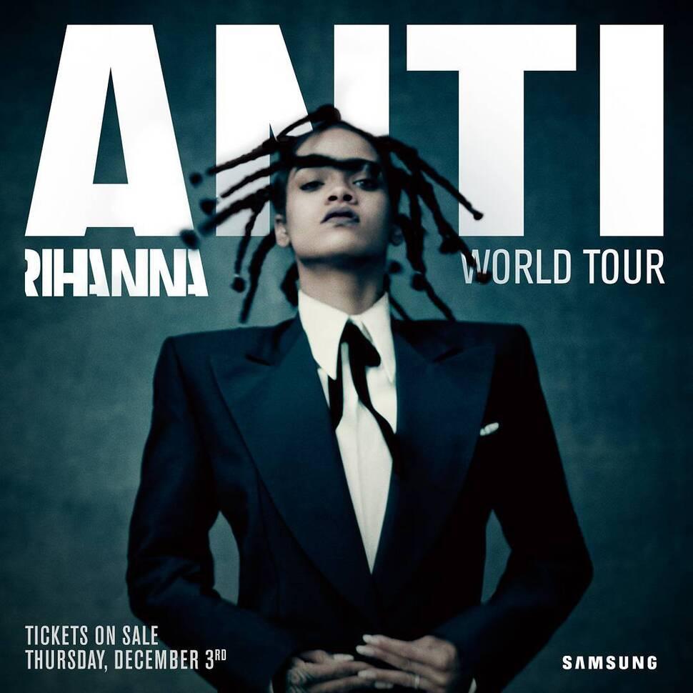 Рианна анонсировала мировой концертный тур