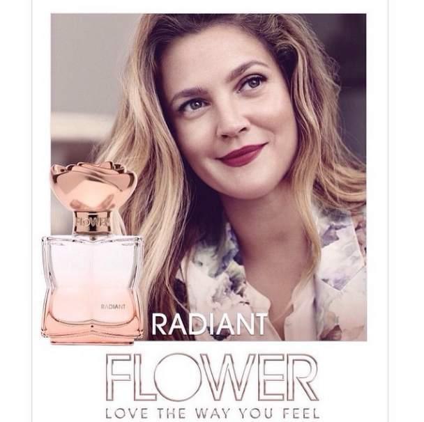Дрю Бэрримор с мужем и дочкой в рекламной кампании своего аромата Flower Beauty