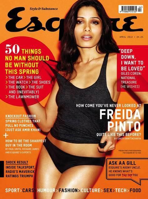 Фрида Пинто в журнале Esquire Великобритания. Апрель 2012