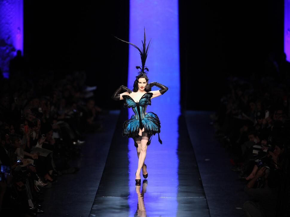 Модный показ Jean Paul Gaultier Haute Couture. Весна / лето 2014