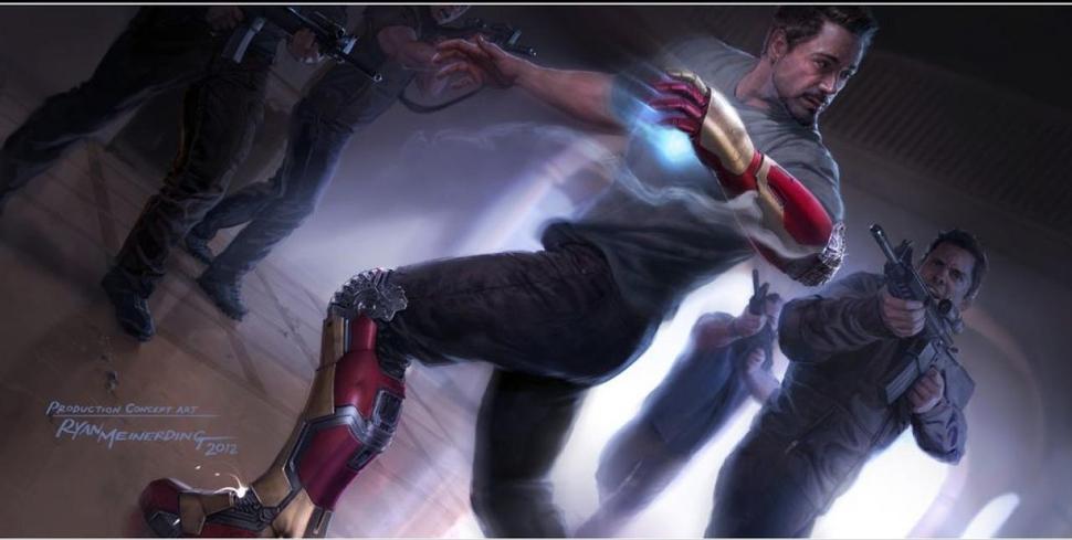 Первый концепт-арт к фильму «Железный человек 3»