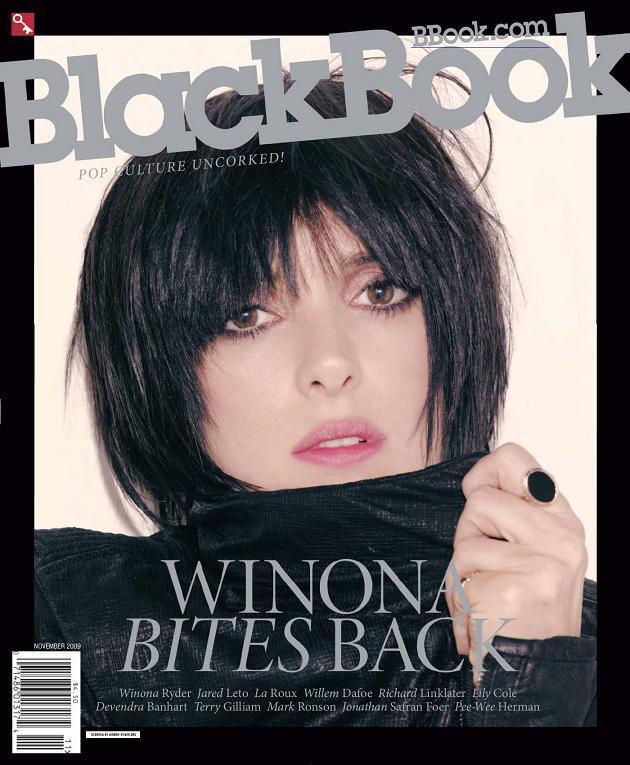 Вайнона Райдер в журнале BlackBook. Ноябрь 2009