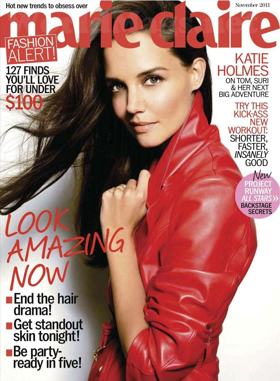 Кэти Холмс в журнале Marie Claire. США. Ноябрь 2011