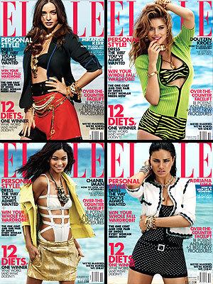 Ангелы Victoria's Secret в журнале Elle. Октябрь 2011