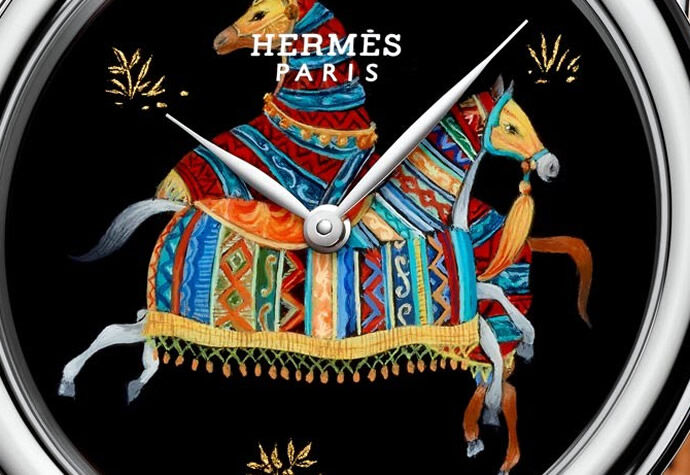 Hermès выпустили лимитированную коллекцию часов Arceau Cheval d'Orient