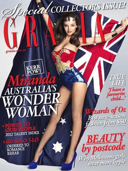 Миранда Керр на обложке журнала Grazia Австралия. Январь 2012