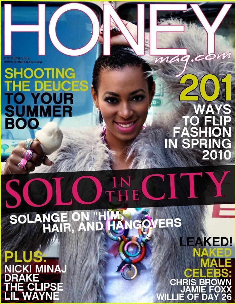 Соландж Ноулз в журнале Honey. Октябрь 2009