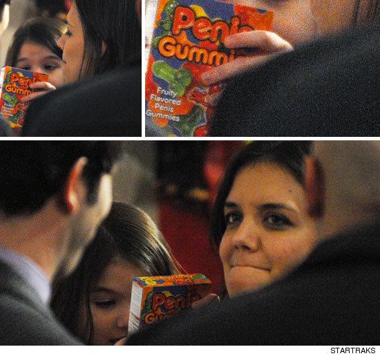 Сури Круз ест необычные жевательные конфеты