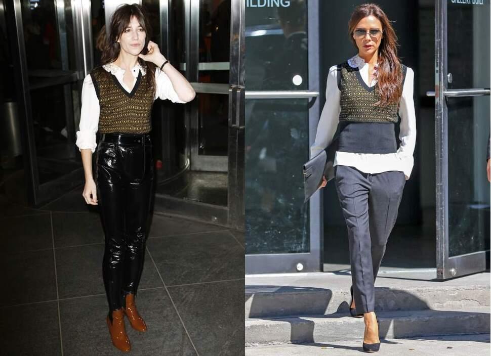 Fashion battle: Шарлотта Генсбур и Виктория Бекхэм