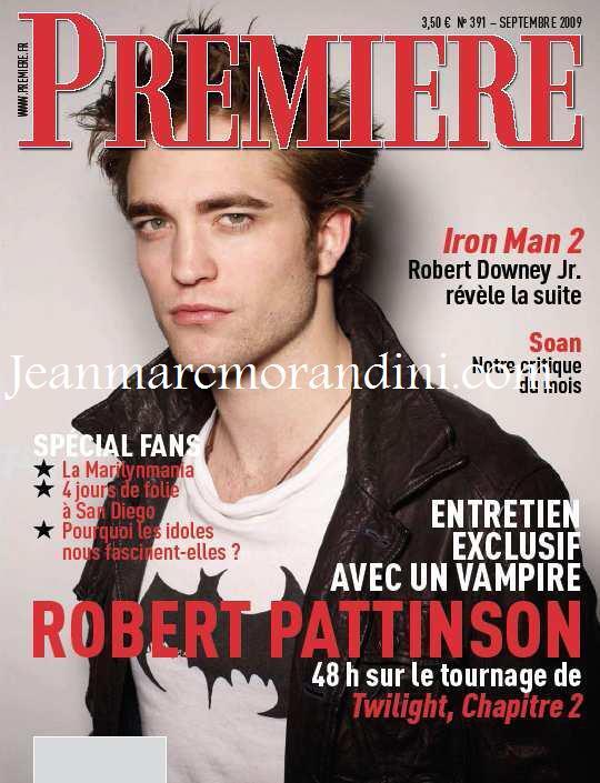 Интервью Роберта Паттинсона для журнала Premiere