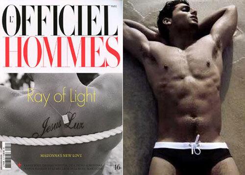 Иисус Луз в журнале L'Officiel Hommes. Лето 2009