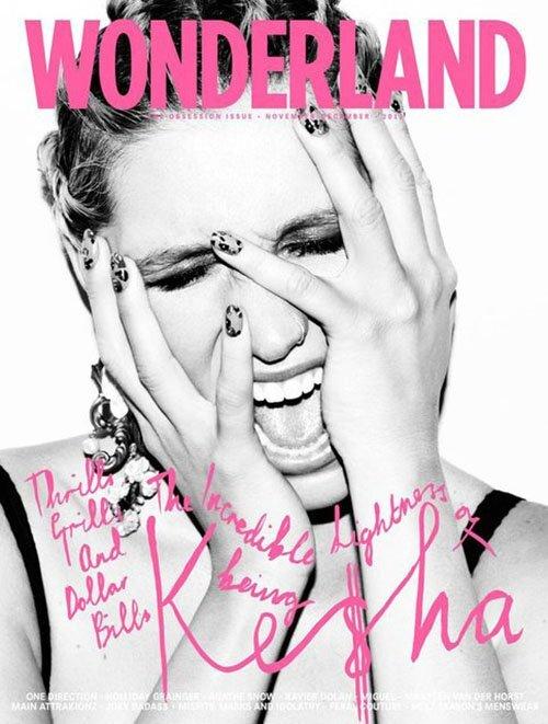 Ke$ha в журнале Wonderland. Декабрь 2012