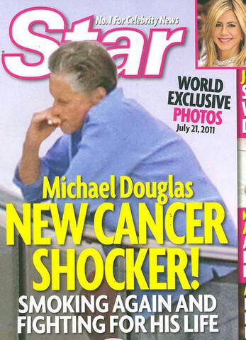 Майкл Дуглас курит после семи месяцев борьбы с раком гортани
