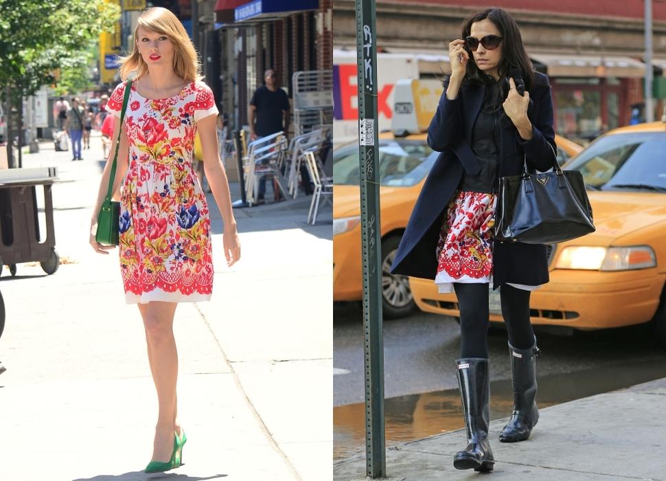 Fashion battle: Тейлор Свифт и Фамке Янссен