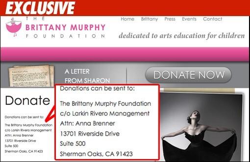 Благотворительный фонд Бриттани Мерфи оказался не действительным