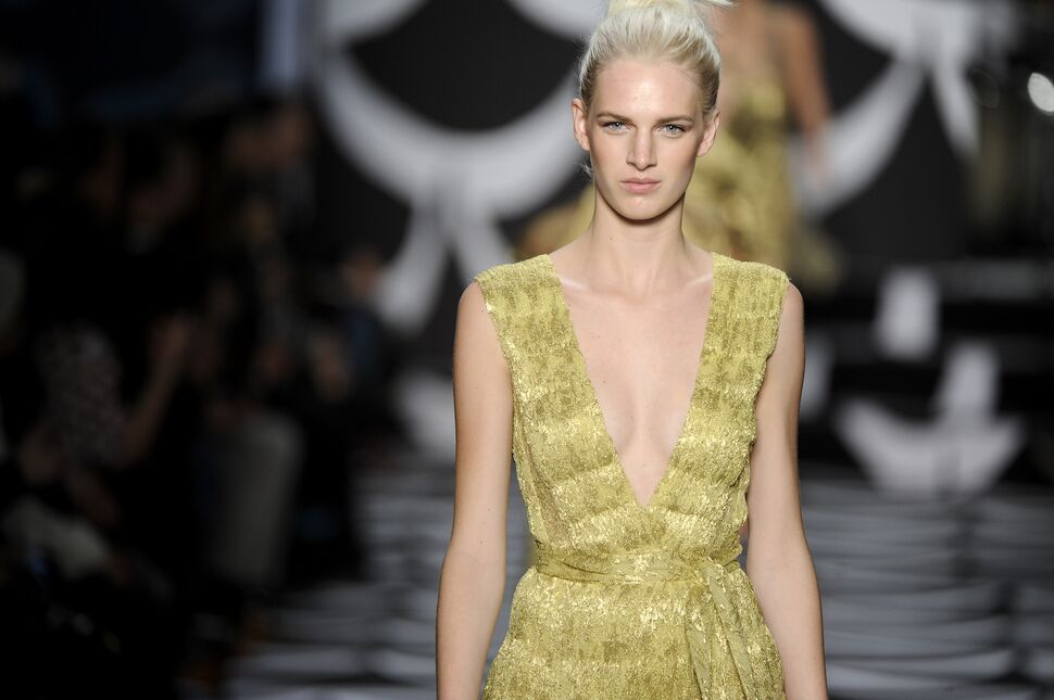 Модный показ новой коллекции Diane von Furstenberg. Осень / зима 2014