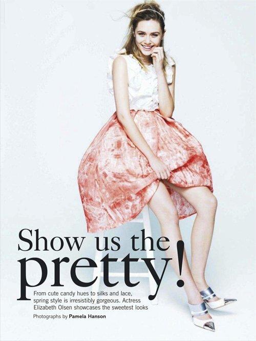 Элизабет Олсен в журнале Glamour Великобритания. Март 2012