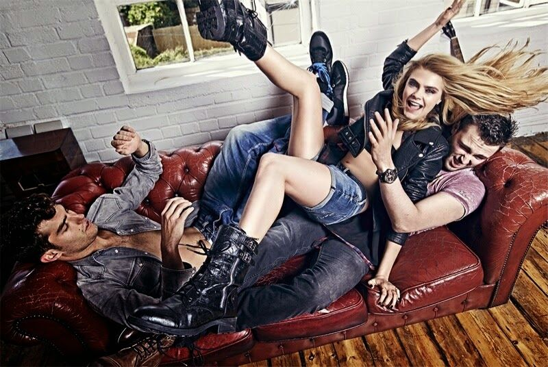 Кара Делевинь в рекламной кампании Pepe Jeans. Осень / зима 2014