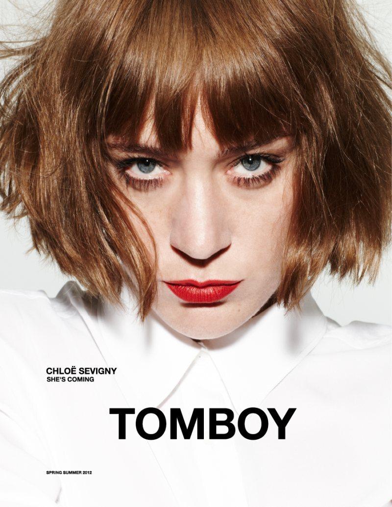 Хлое Севиньи в рекламной кампании Tomboy. Весна 2012