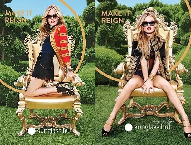 Джорджия Мэй Джаггер в рекламной кампании Sunglass Hut